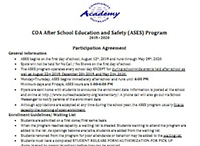 COA After School Education and Safety