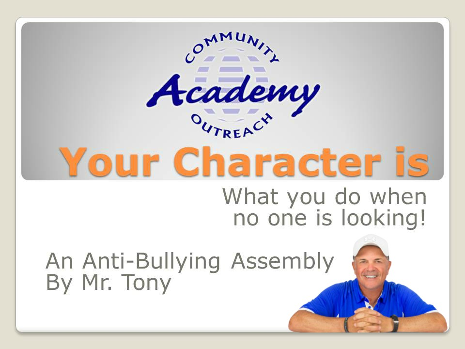 Anti-Bullying Virtual Assembly