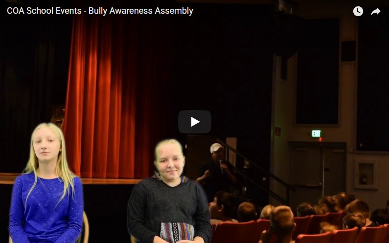 COA School Events - Bully Awareness Assembly