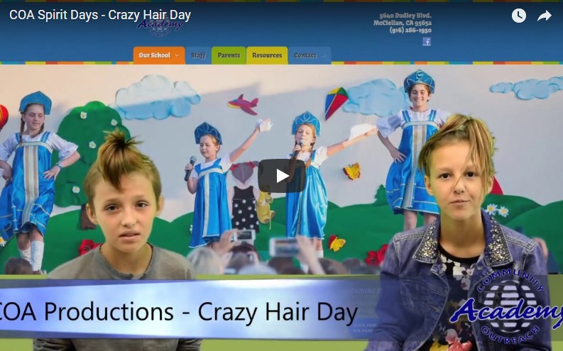 COA Spirit Days - Crazy Hair Day