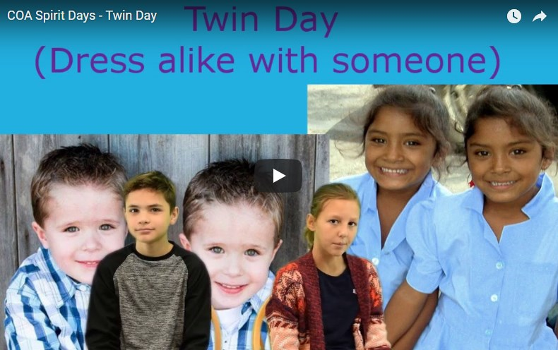 COA Spirit Days - Twin Day