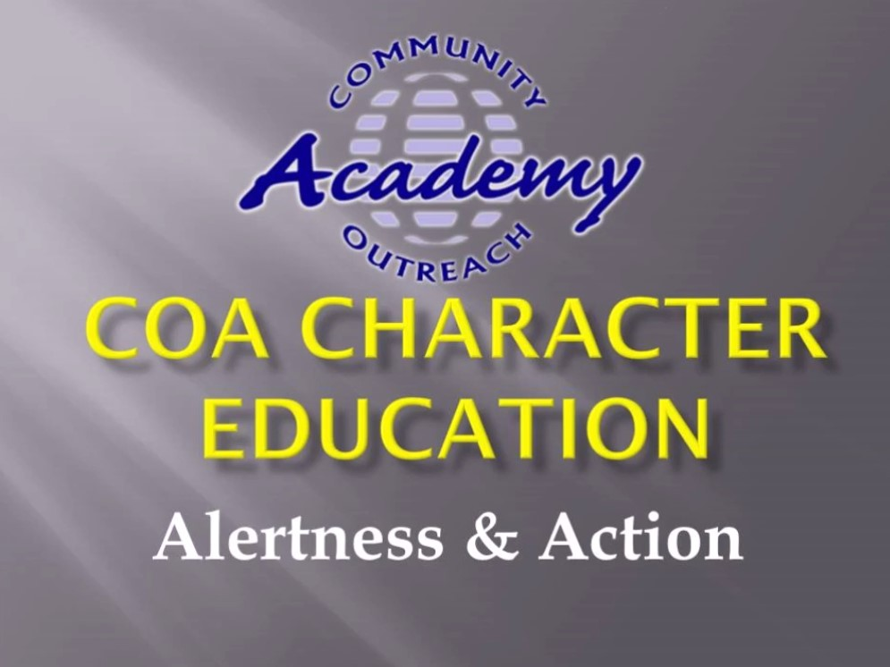 COA Character Education - Dec 2020 - Personal Best