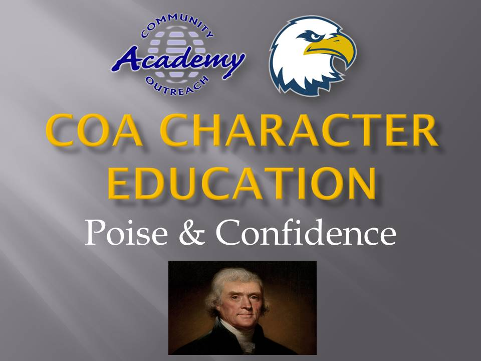COA Character Education - Nov 2020 - Poise and Confidence