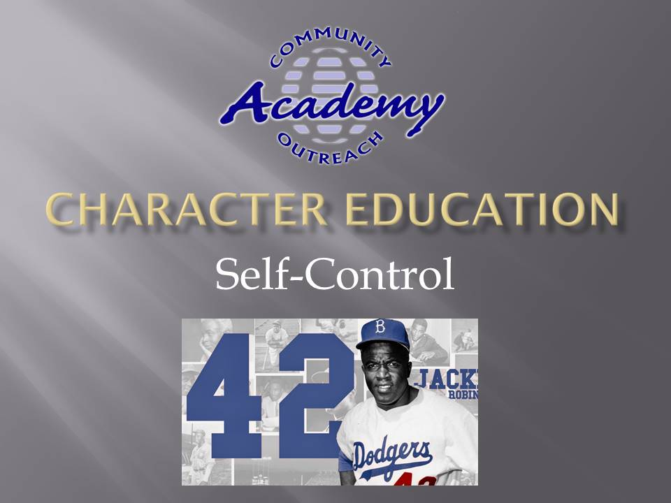 COA Character Education - Oct 2020 - Self-Control